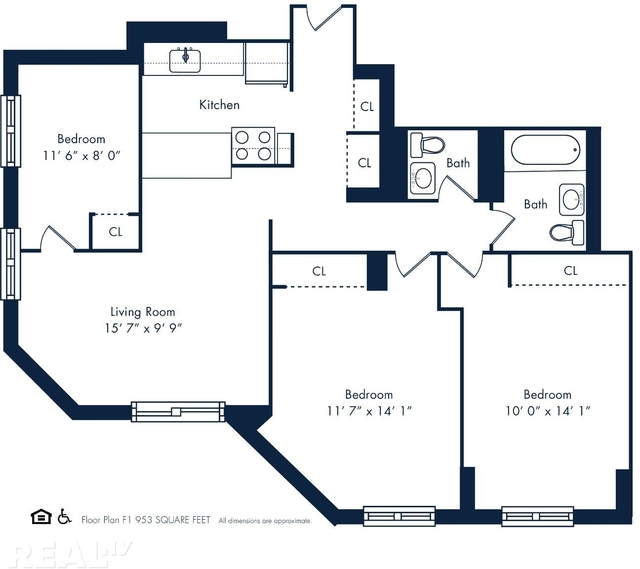 3 Bedrooms, Rose Hill Rental in NYC for $5,345 - Photo 2
