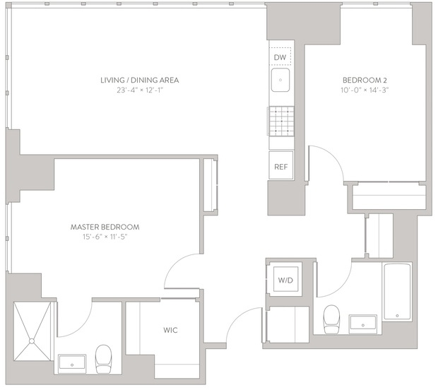 2 Bedrooms, Long Island City Rental in NYC for $4,198 - Photo 2