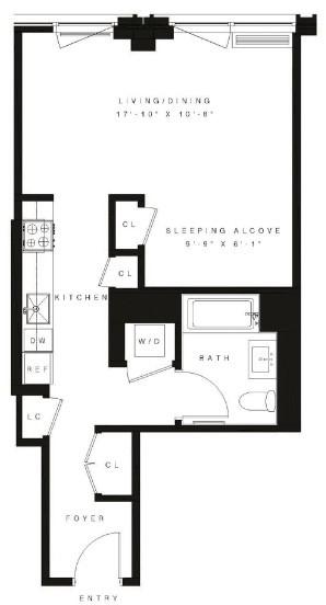 Studio, Vinegar Hill Rental in NYC for $3,095 - Photo 2