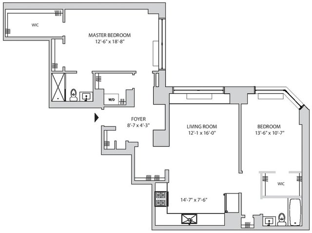 2 Bedrooms, Yorkville Rental in NYC for $6,044 - Photo 2