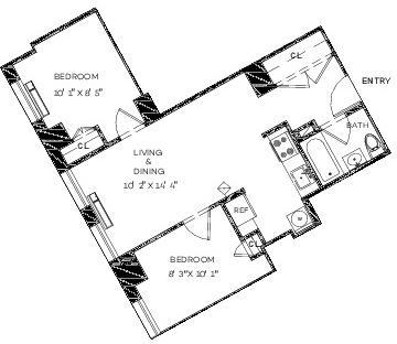 2 Bedrooms, Financial District Rental in NYC for $4,441 - Photo 2
