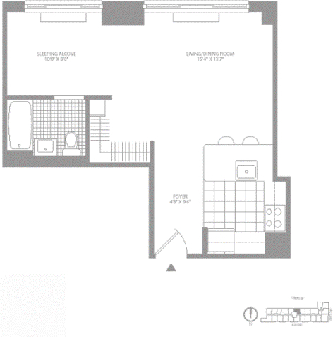 Studio, Civic Center Rental in NYC for $2,842 - Photo 2