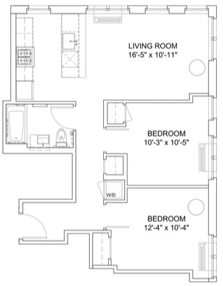 2 Bedrooms, Hell's Kitchen Rental in NYC for $4,525 - Photo 2