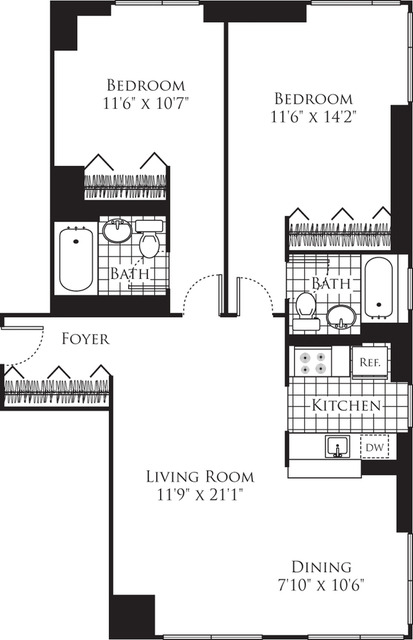 2 Bedrooms, Chelsea Rental in NYC for $6,249 - Photo 2