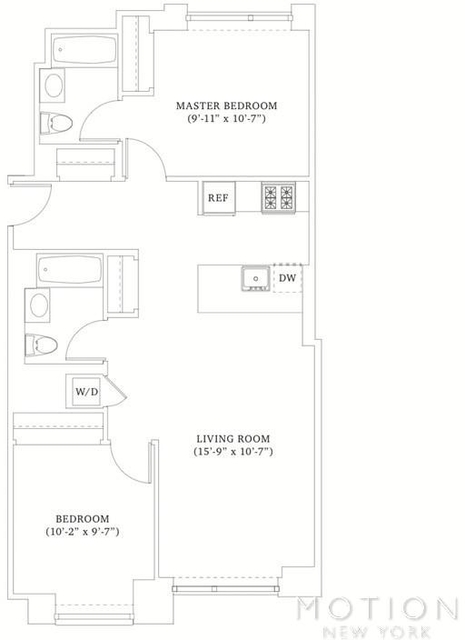 2 Bedrooms, Hell's Kitchen Rental in NYC for $5,120 - Photo 2