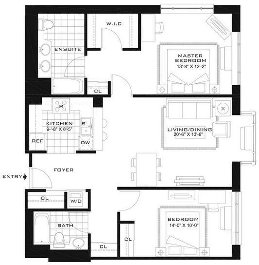 2 Bedrooms, Newport Rental in NYC for $3,905 - Photo 2