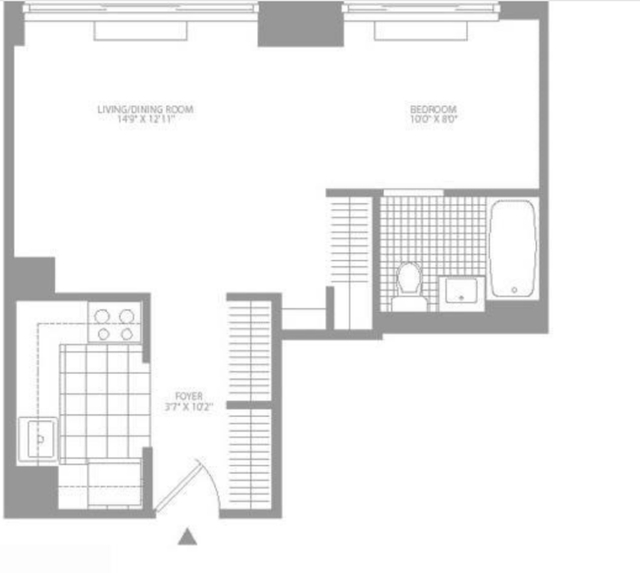 Studio, Civic Center Rental in NYC for $2,830 - Photo 2