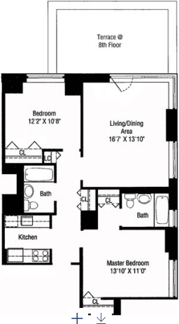 2 Bedrooms, Theater District Rental in NYC for $6,166 - Photo 2