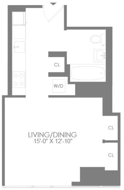 Studio, Hell's Kitchen Rental in NYC for $3,190 - Photo 2