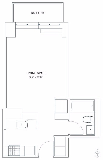 Studio, Hell's Kitchen Rental in NYC for $2,802 - Photo 2