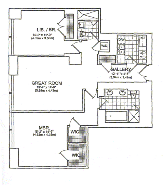 2 Bedrooms, Hell's Kitchen Rental in NYC for $13,800 - Photo 2