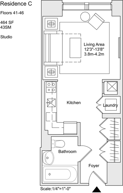 Studio, Murray Hill Rental in NYC for $4,350 - Photo 2