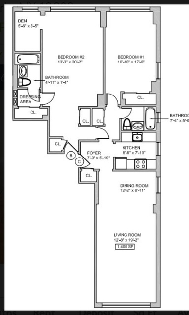 2 Bedrooms, Sutton Place Rental in NYC for $6,375 - Photo 2