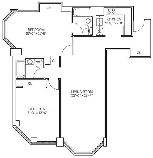 2 Bedrooms, Newport Rental in NYC for $3,915 - Photo 2