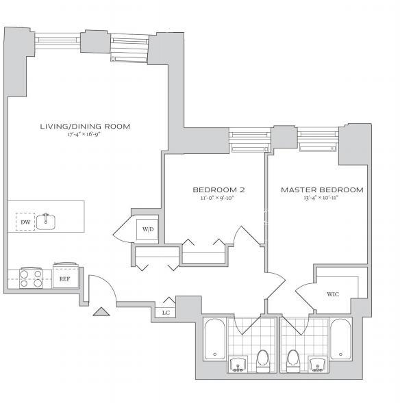 2 Bedrooms, Financial District Rental in NYC for $6,225 - Photo 2