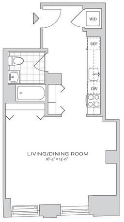 Studio, Financial District Rental in NYC for $3,217 - Photo 2