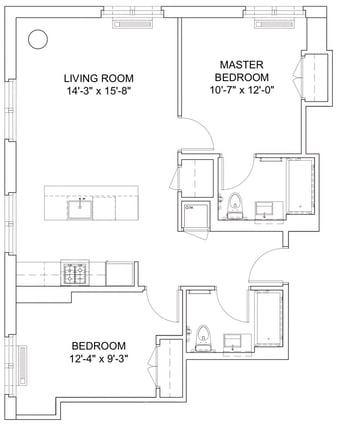2 Bedrooms, Hell's Kitchen Rental in NYC for $4,888 - Photo 2