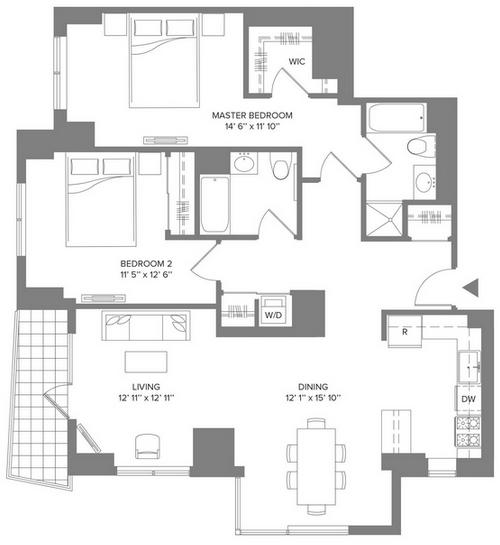 2 Bedrooms, Newport Rental in NYC for $3,745 - Photo 2