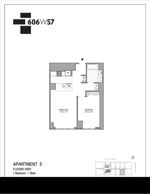 1 Bedroom, Hell's Kitchen Rental in NYC for $3,592 - Photo 1