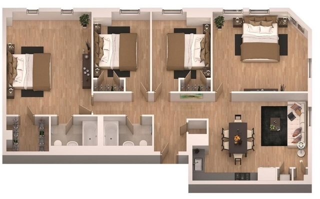 4 Bedrooms, Financial District Rental in NYC for $6,418 - Photo 2