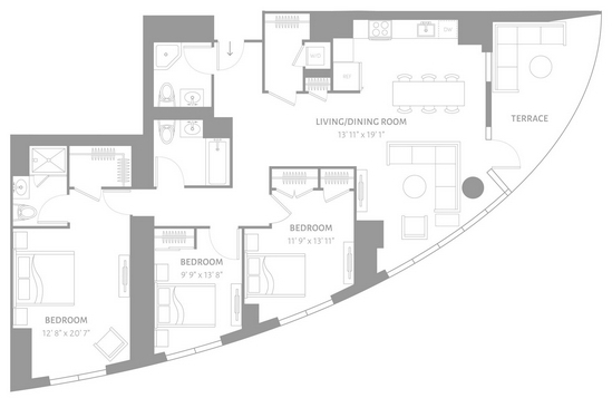 3 Bedrooms, Newport Rental in NYC for $5,998 - Photo 2
