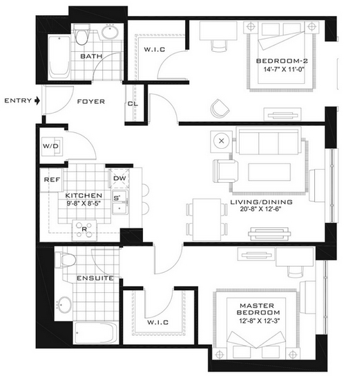2 Bedrooms, Newport Rental in NYC for $3,805 - Photo 2