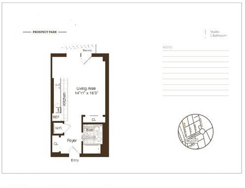 Studio, Windsor Terrace Rental in NYC for $2,099 - Photo 2