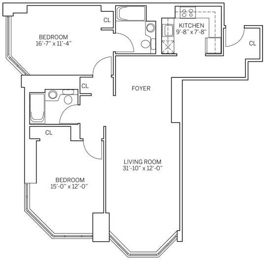 2 Bedrooms, Newport Rental in NYC for $3,890 - Photo 2