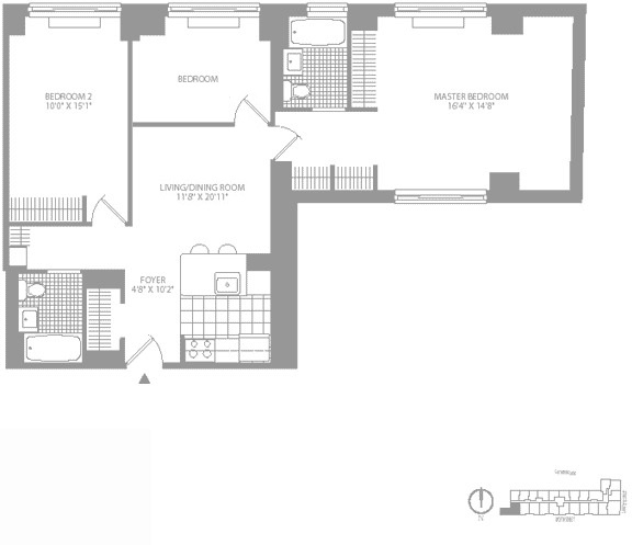 3 Bedrooms, Civic Center Rental in NYC for $5,300 - Photo 1