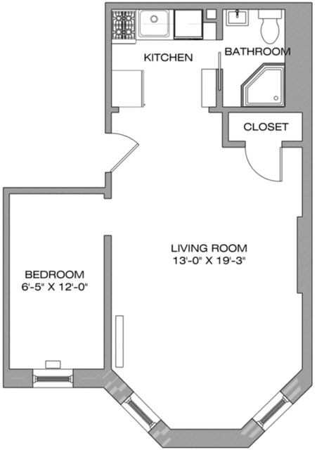 1 Bedroom, North Slope Rental in NYC for $2,100 - Photo 2