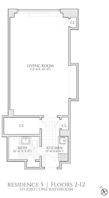 Studio, Turtle Bay Rental in NYC for $2,455 - Photo 2