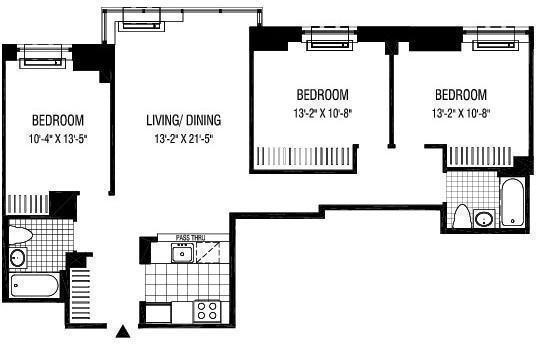 3 Bedrooms, Financial District Rental in NYC for $6,424 - Photo 2
