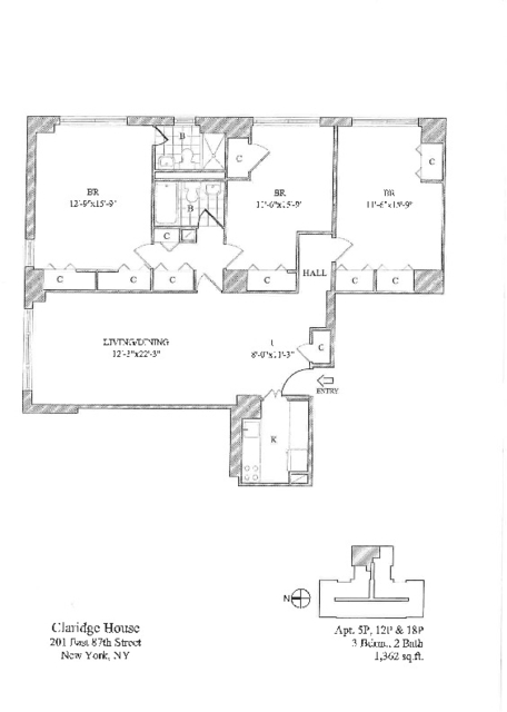 2 Bedrooms, Yorkville Rental in NYC for $7,550 - Photo 2