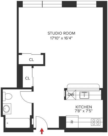 Studio, Hell's Kitchen Rental in NYC for $2,677 - Photo 2