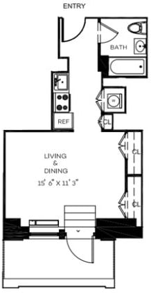 Studio, Financial District Rental in NYC for $3,033 - Photo 1