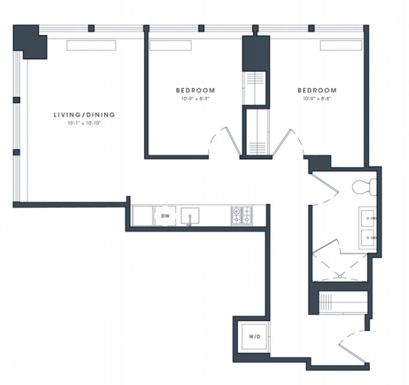 1 Bedroom, Financial District Rental in NYC for $4,835 - Photo 2