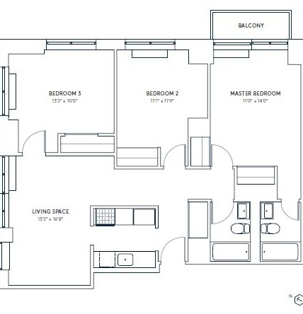 3 Bedrooms, Hell's Kitchen Rental in NYC for $5,297 - Photo 2