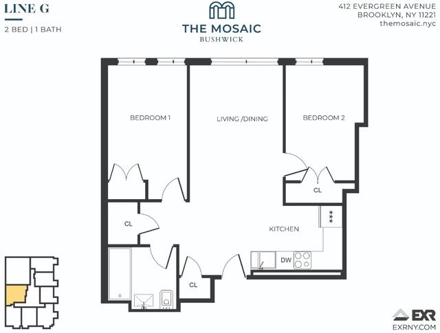 2 Bedrooms, Bushwick Rental in NYC for $3,323 - Photo 1