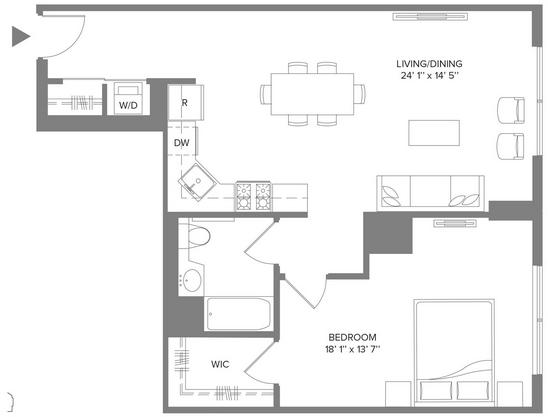 1 Bedroom, Newport Rental in NYC for $3,030 - Photo 2