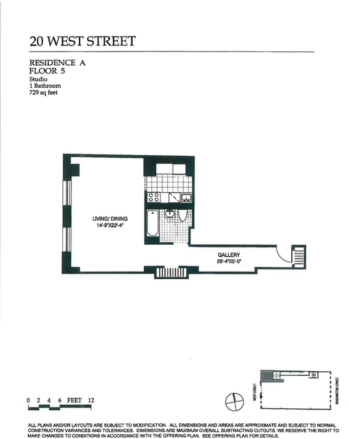 Studio, Battery Park City Rental in NYC for $2,595 - Photo 2