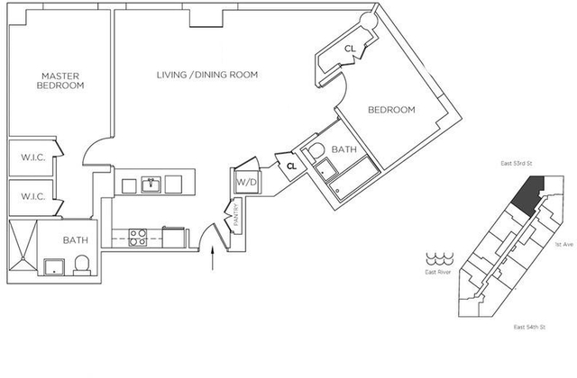 2 Bedrooms, Sutton Place Rental in NYC for $6,943 - Photo 2