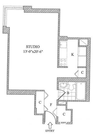 Studio, Yorkville Rental in NYC for $2,520 - Photo 2