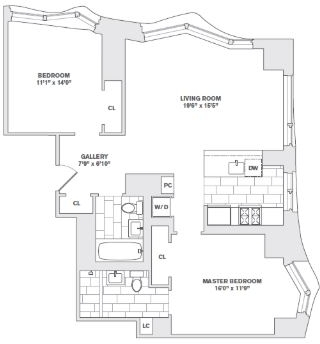 2 Bedrooms, Financial District Rental in NYC for $6,830 - Photo 2