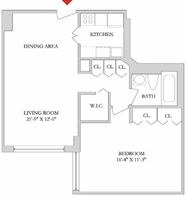 1 Bedroom, Rose Hill Rental in NYC for $3,810 - Photo 2