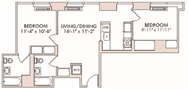 2 Bedrooms, Chelsea Rental in NYC for $6,088 - Photo 2