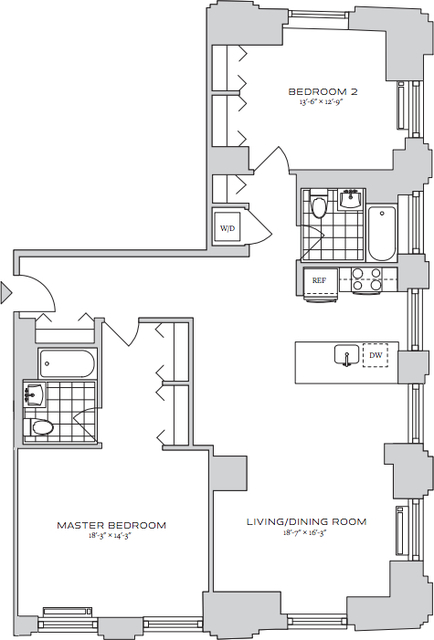 2 Bedrooms, Financial District Rental in NYC for $5,391 - Photo 2