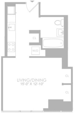 Studio, Hell's Kitchen Rental in NYC for $3,187 - Photo 2