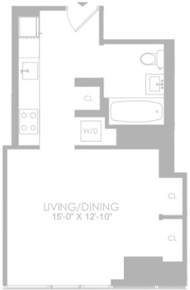 Studio, Hell's Kitchen Rental in NYC for $3,230 - Photo 2