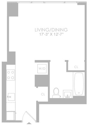 Studio, Hell's Kitchen Rental in NYC for $3,323 - Photo 2