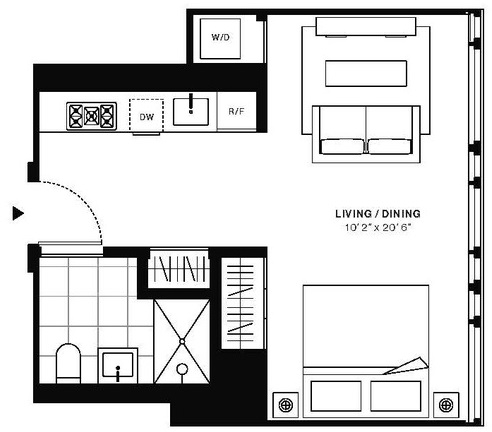 Studio, Murray Hill Rental in NYC for $3,240 - Photo 2